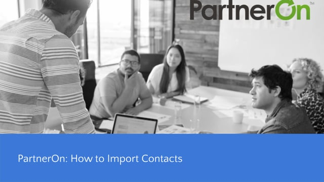 PartnerOn: How to Import Contacts