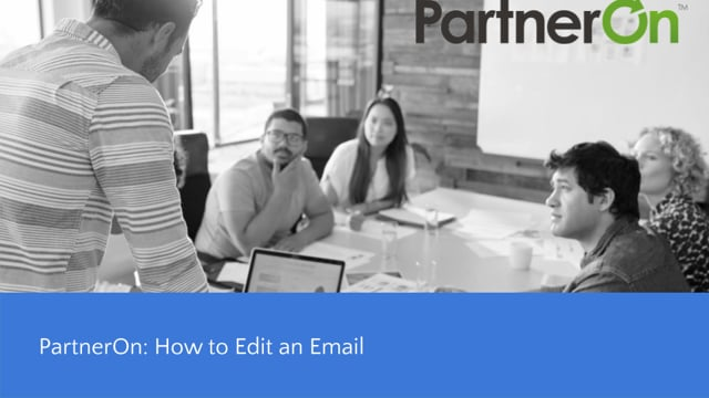 PartnerOn-How to Edit an Email