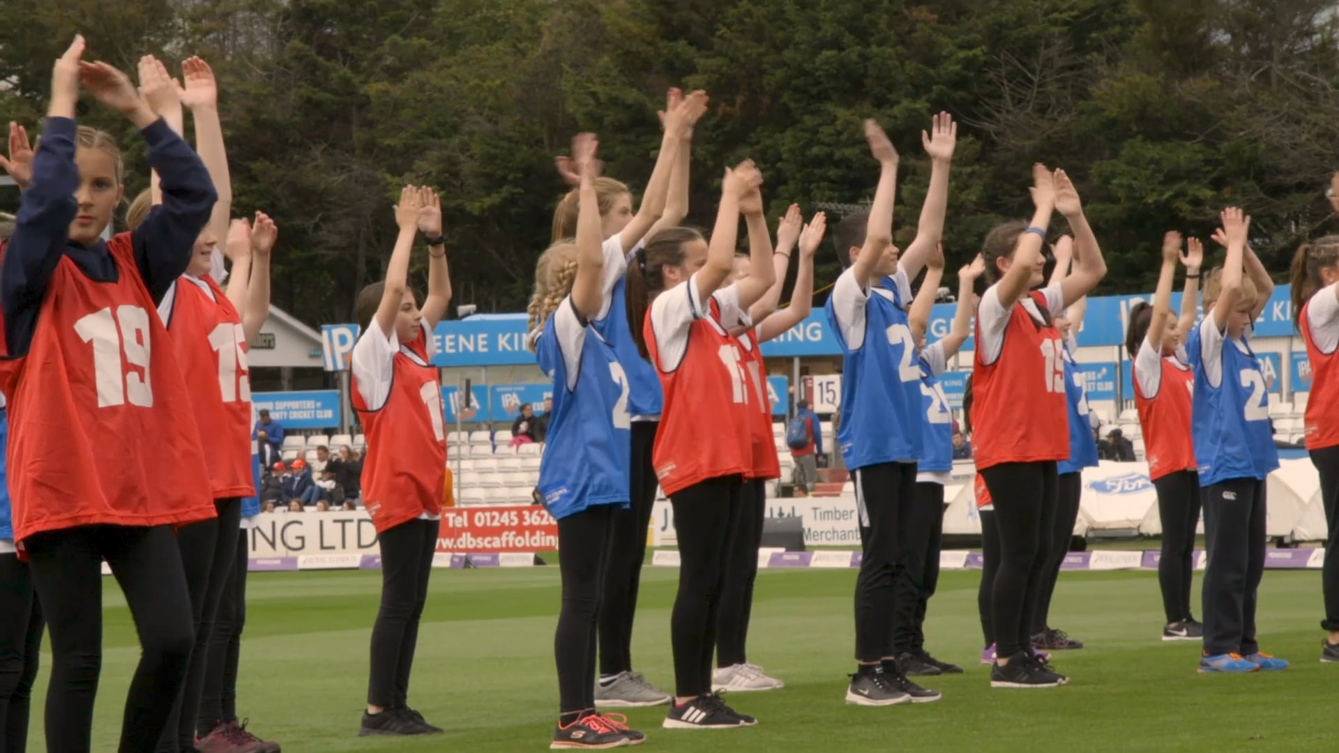 1 Day 1 Dance 1000 Dancers World Cup Fever at the Essex County Cricket Ground