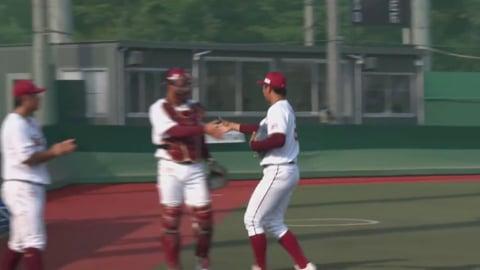 【ファーム】イーグルスルーキー・佐藤 公式戦初登板を3者凡退!! 2019/8/6 E-DB(ファーム)