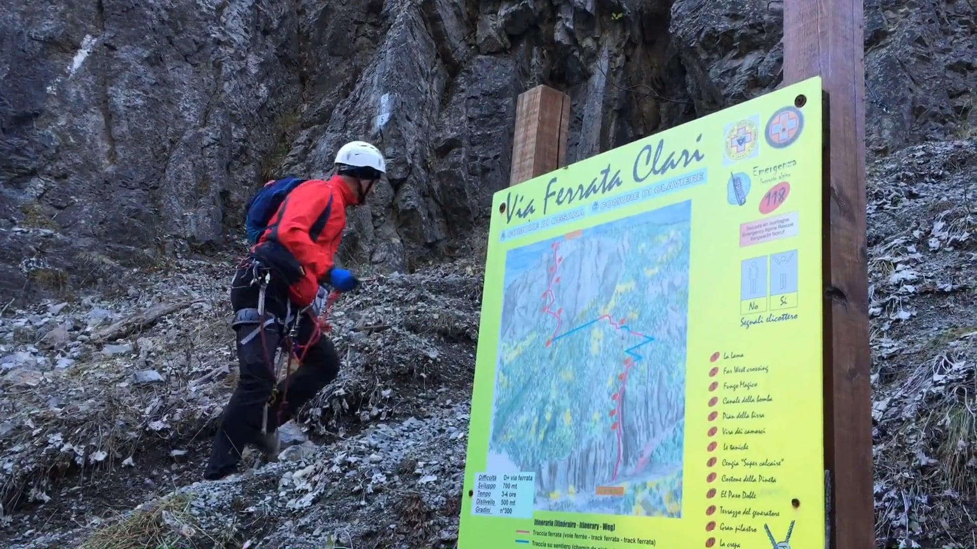 Ferrata Clari - Claviere - Gorge di San Gervasio