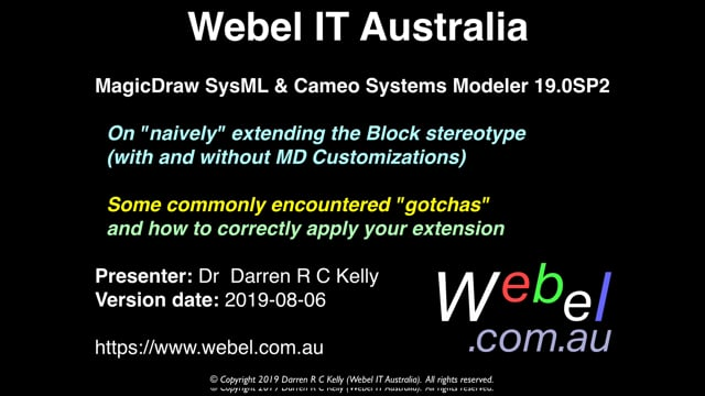 """MagicDraw SysML/Cameo analysis: Possible """"gotchas"""" when extending the SysML Block stereotype"""