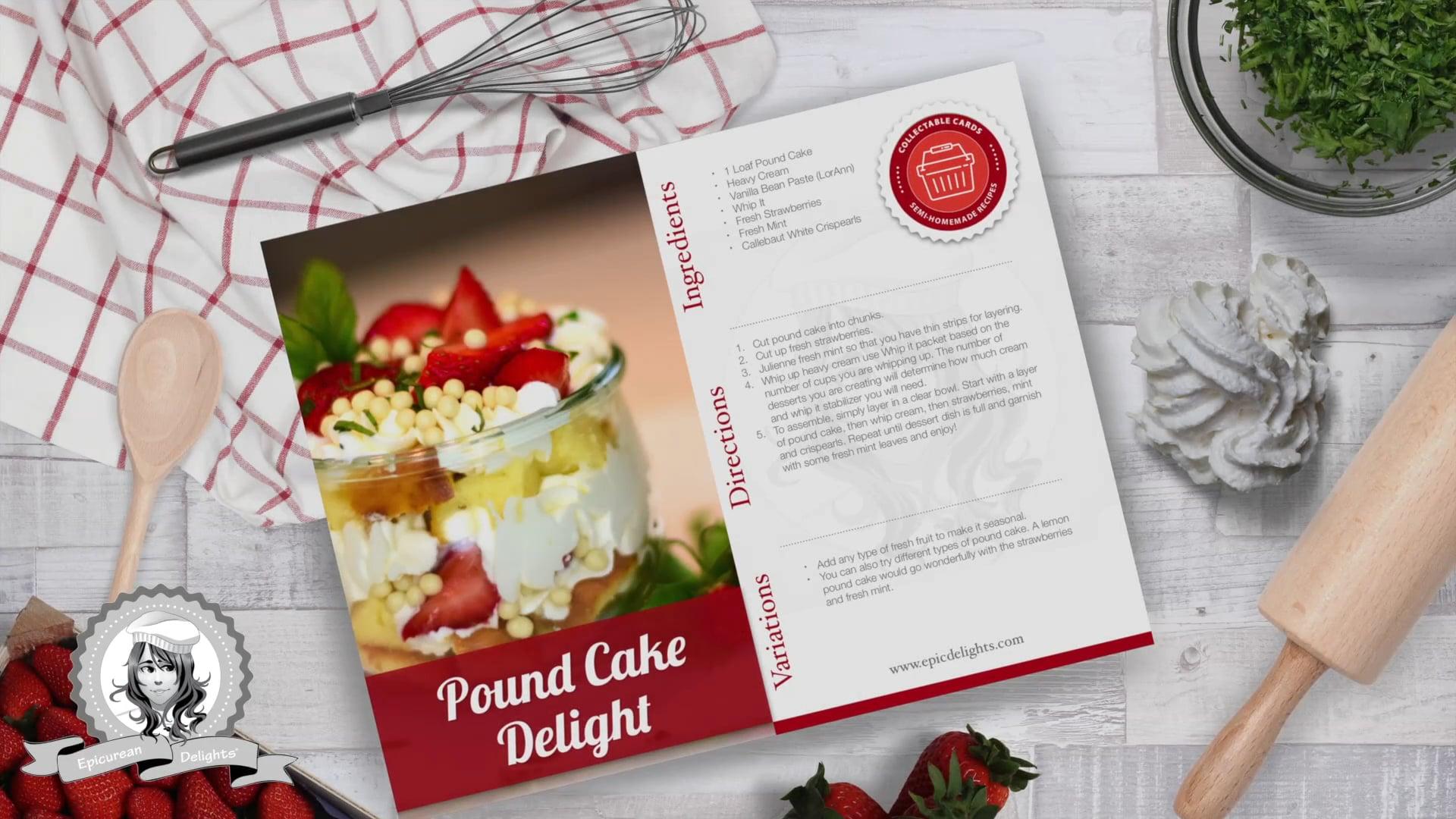 Free Video: Semi-homemade Pound Cake Dessert