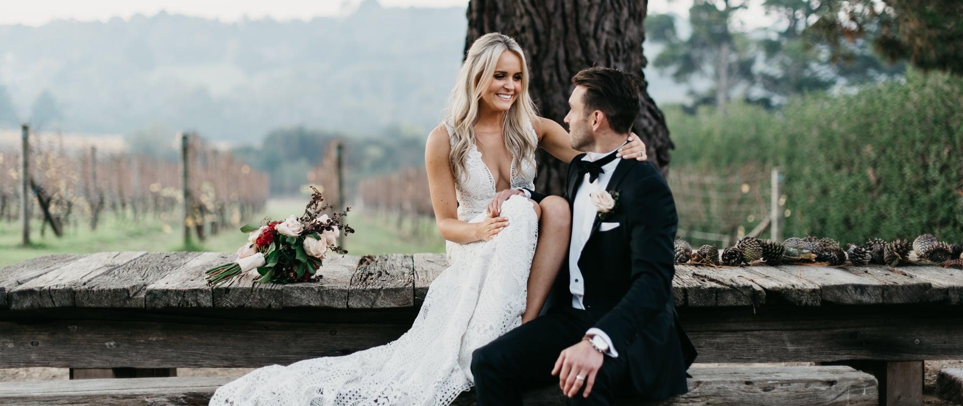 Lizzie & Tom Wedding Video Filmed at Mornington Peninsula, Victoria