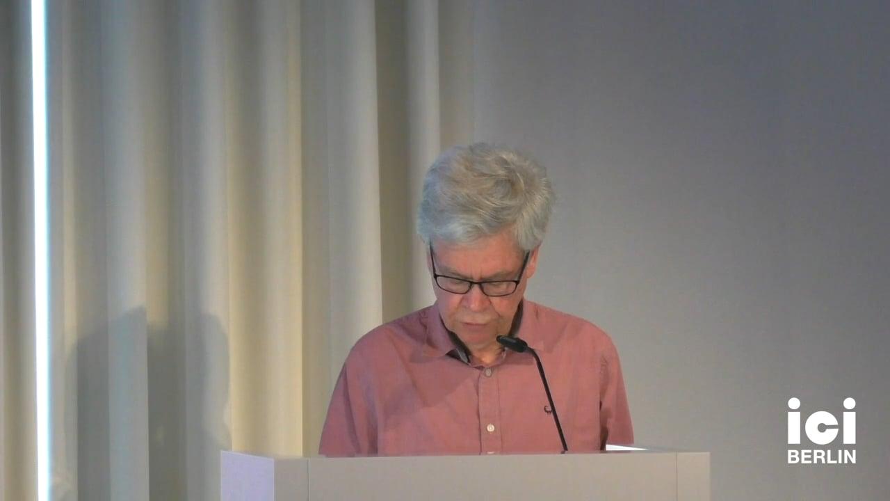 Talk by Derek Attridge