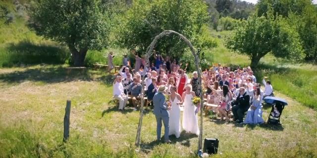 Andrea + Whitney Rainbow Wedding Highlights Teaser - Goji Ranch + Farm + Lodge - Taos NM - 5 min