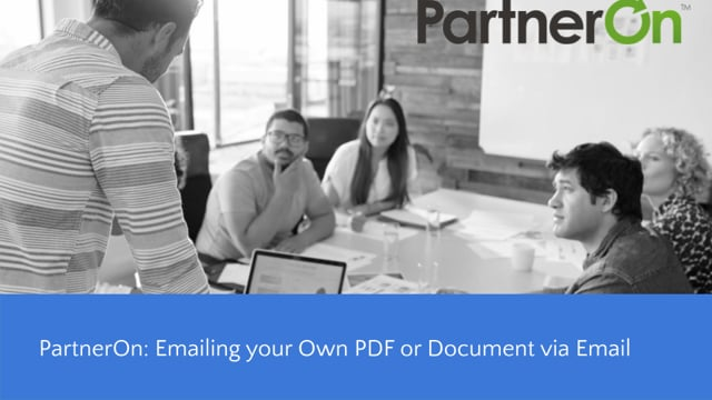 Create Custom Email- How to send a PDF or Document via Email