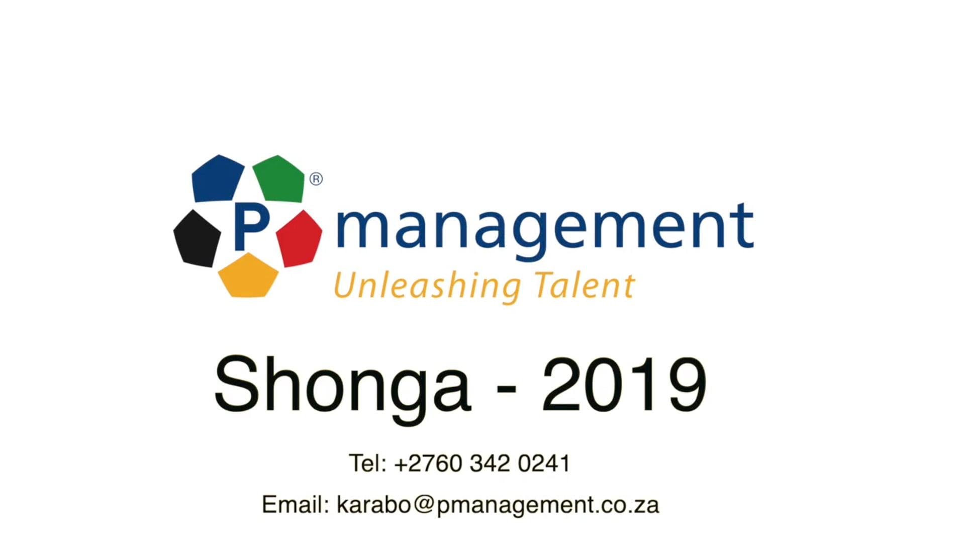 Shonga - Pmanagement