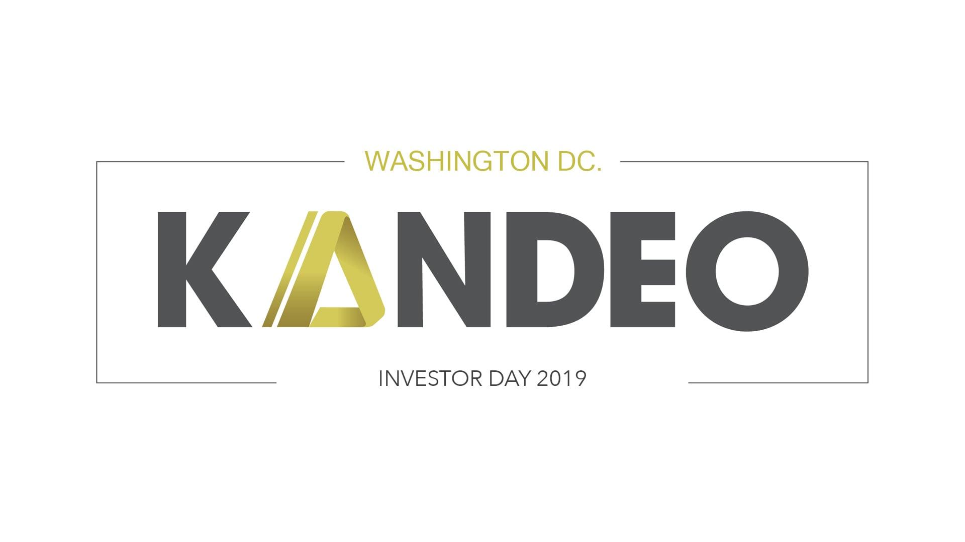 Kandeo Investor Day @ Washington DC 2019