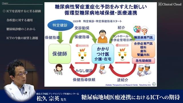 松久 宗英先生:糖尿病地域医療連携におけるICTへの期待