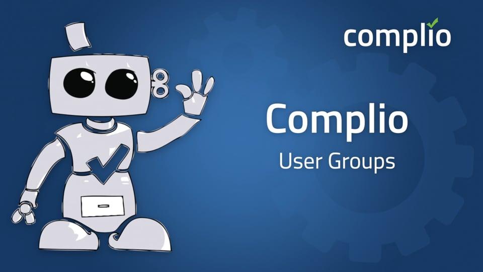 Complio User Groups