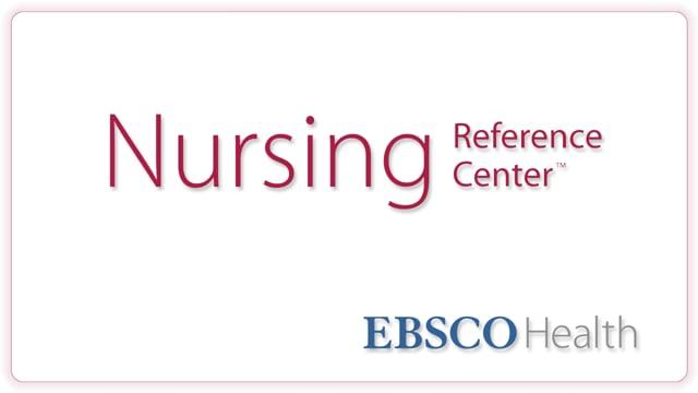 Nursing Reference Center - Tutorial