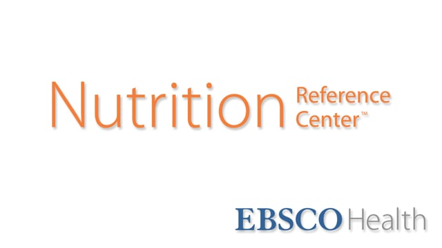 Nutrition Reference Center - Tutorial