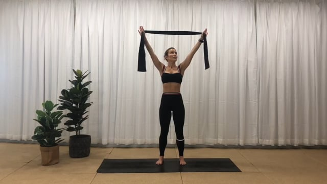 30min full body workout with resistance band