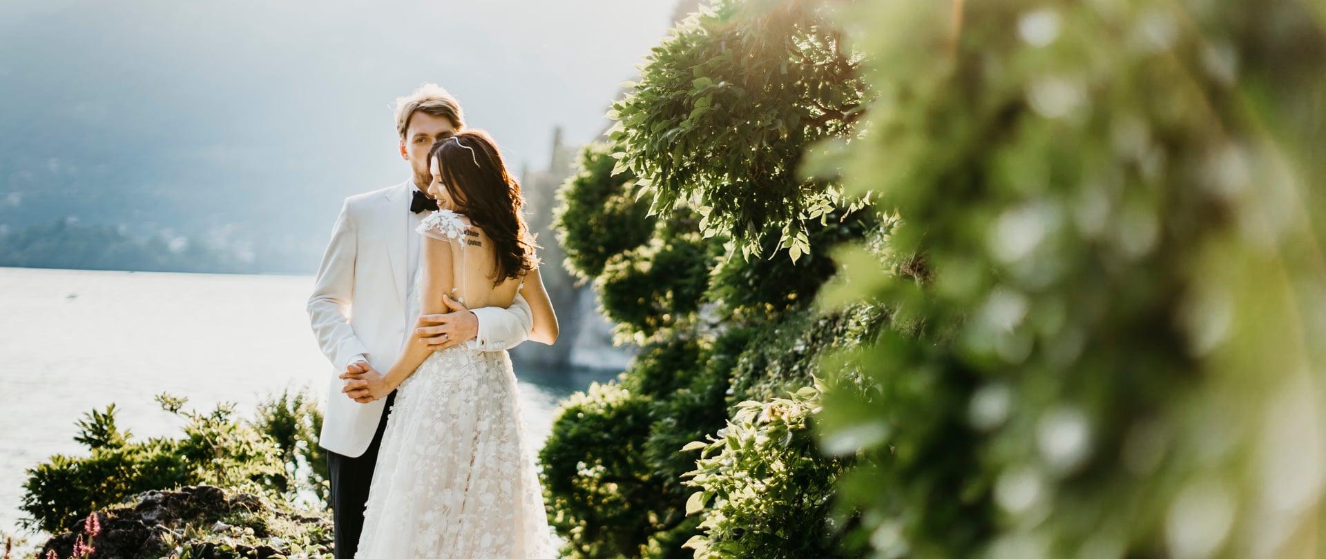 Maryna & Tom Wedding Video Filmed at Lake Como, Italy