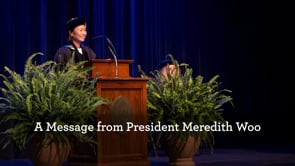 A Message from President Meredith Woo
