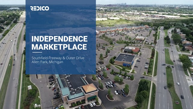 Independence Market Place   Allen Park, Michigan - Lormax Stern/Redico - Commercial Real Estate Drone Video