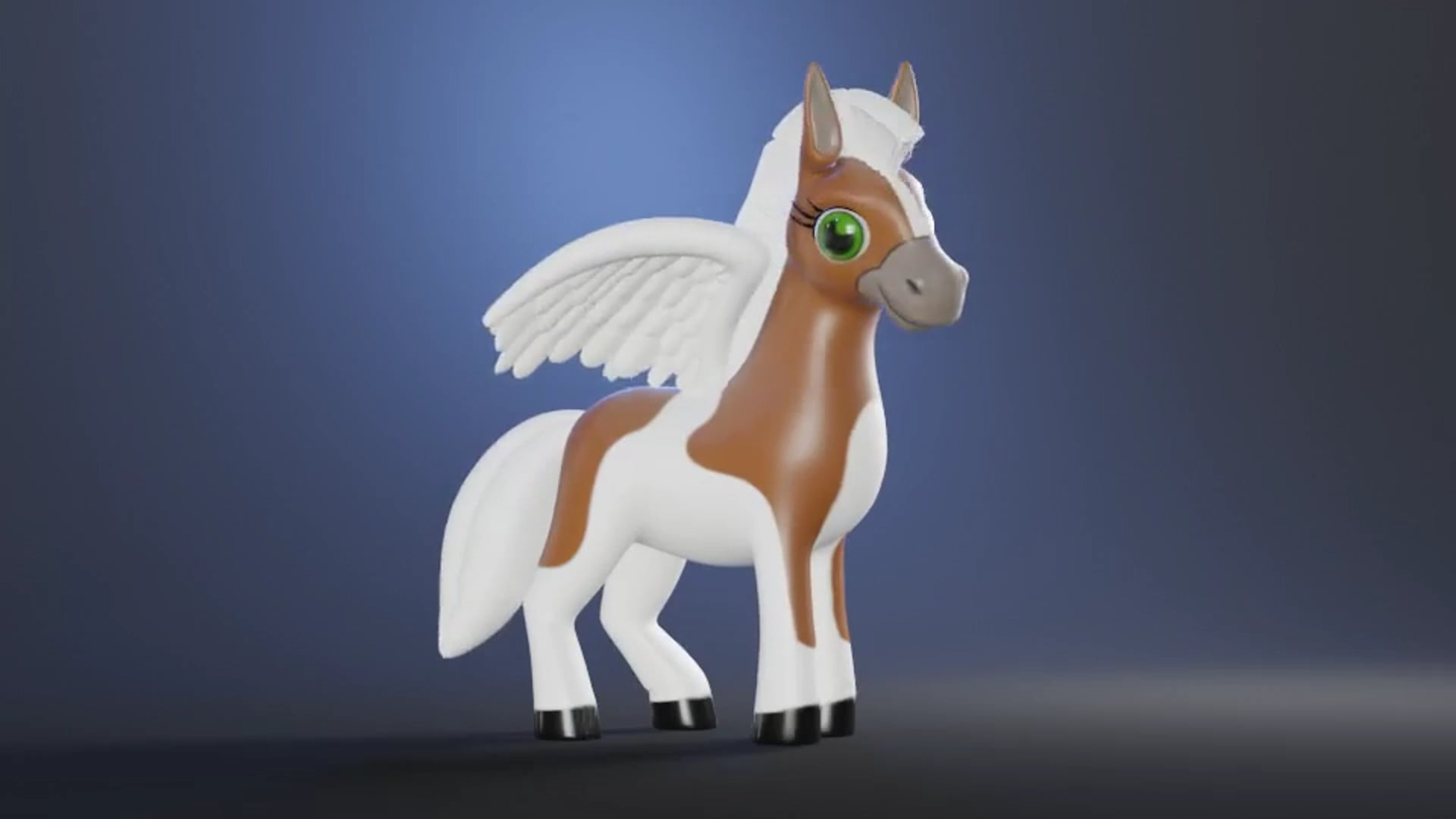 3D Horse. Character animation