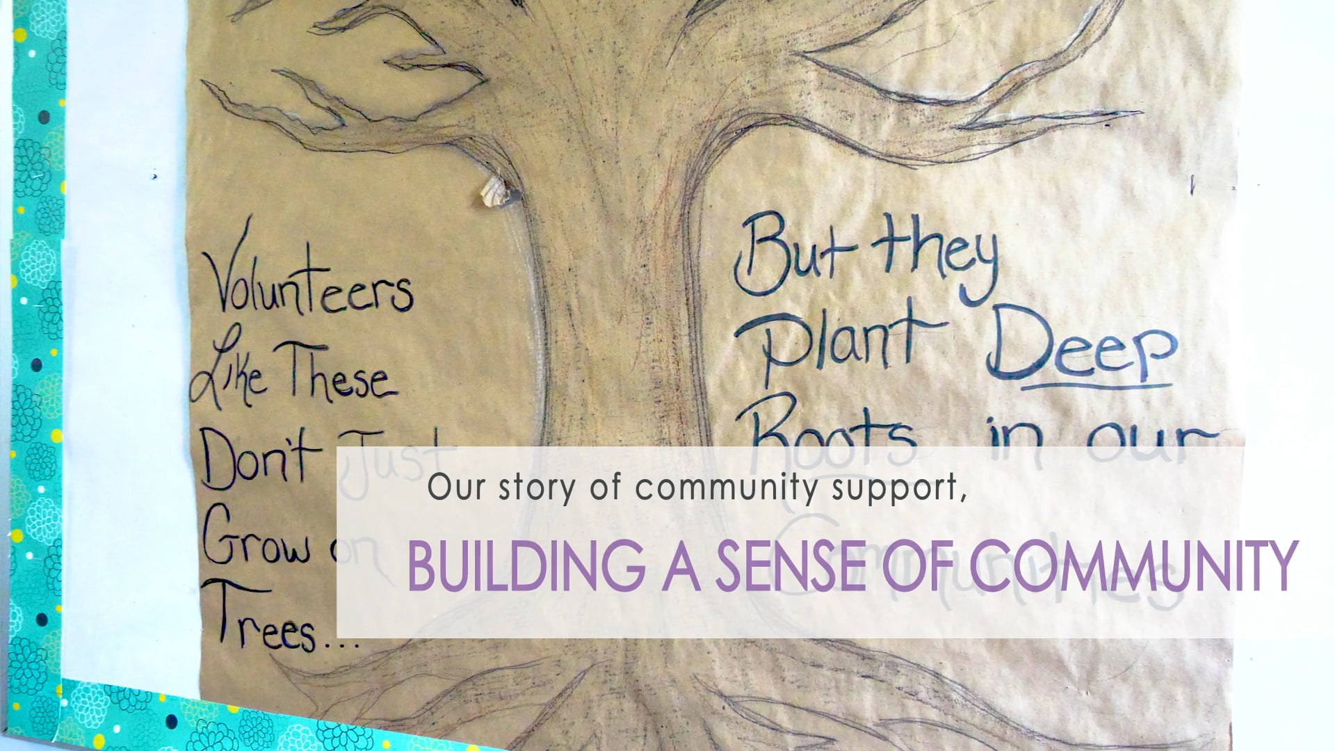 Building a Sense of Community - My story of community support
