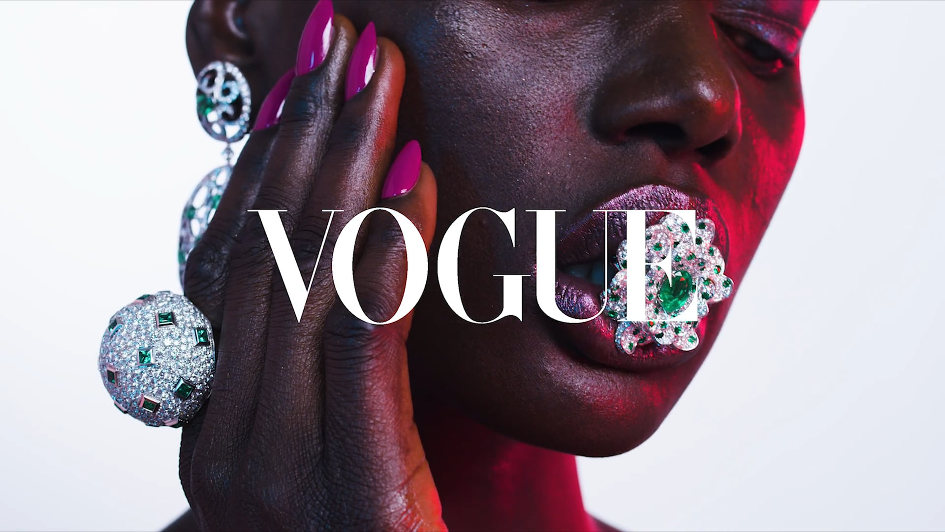 Vogue Portugal Jewelry Editorial Video with model Ajak Deng Directed by Jamie Nelson