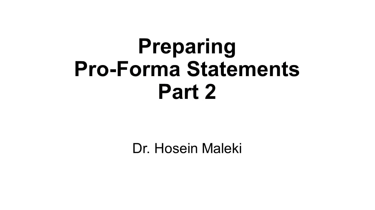 61584Preparing Pro-Forma Statement Parts 2