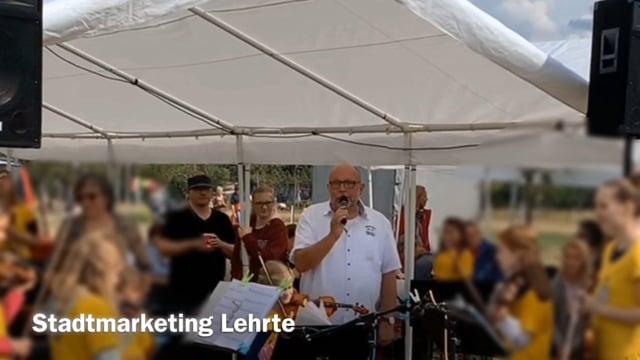 Stadtmarketing Lehrte zehn Jahre Natur erleben - Udo Gallowski Begrüßung