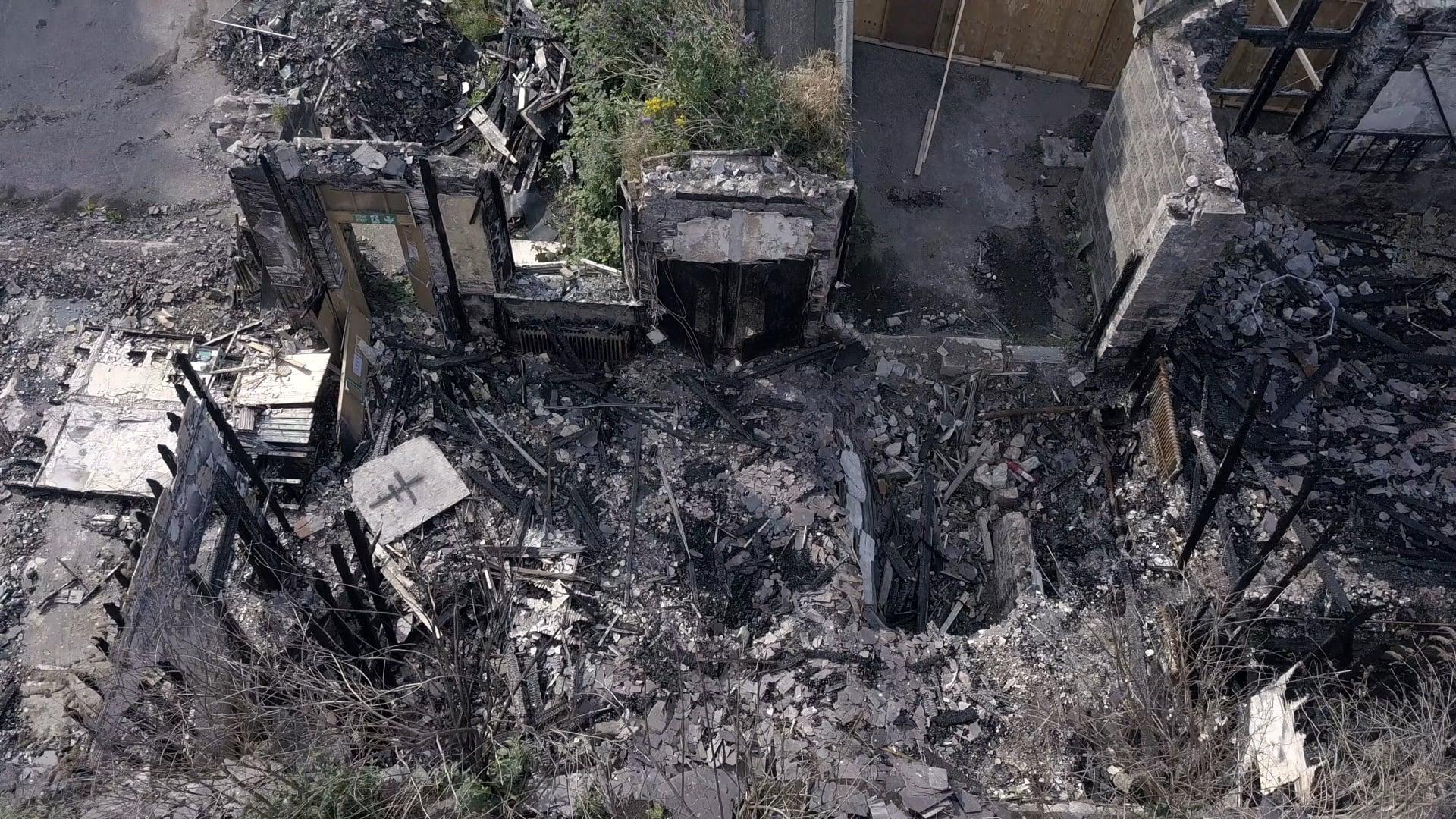 Victoria School fire damage