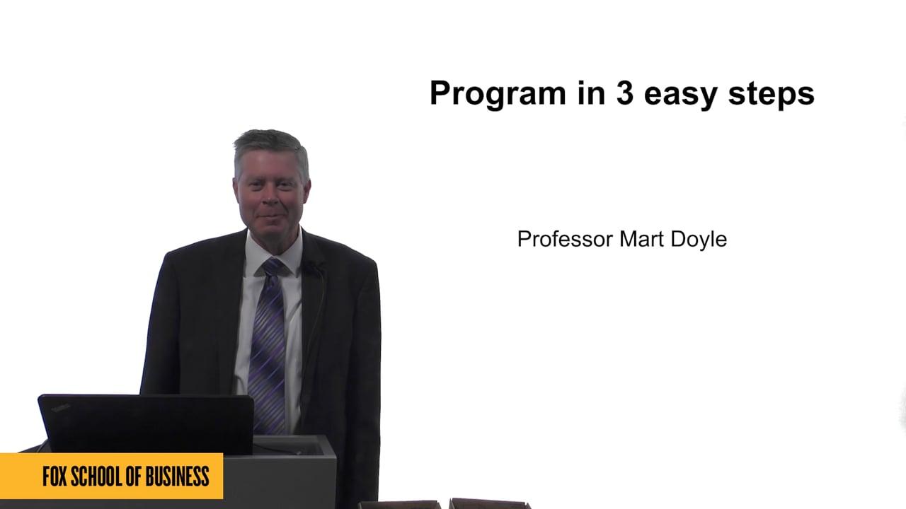 61590Program in 3 Easy Steps