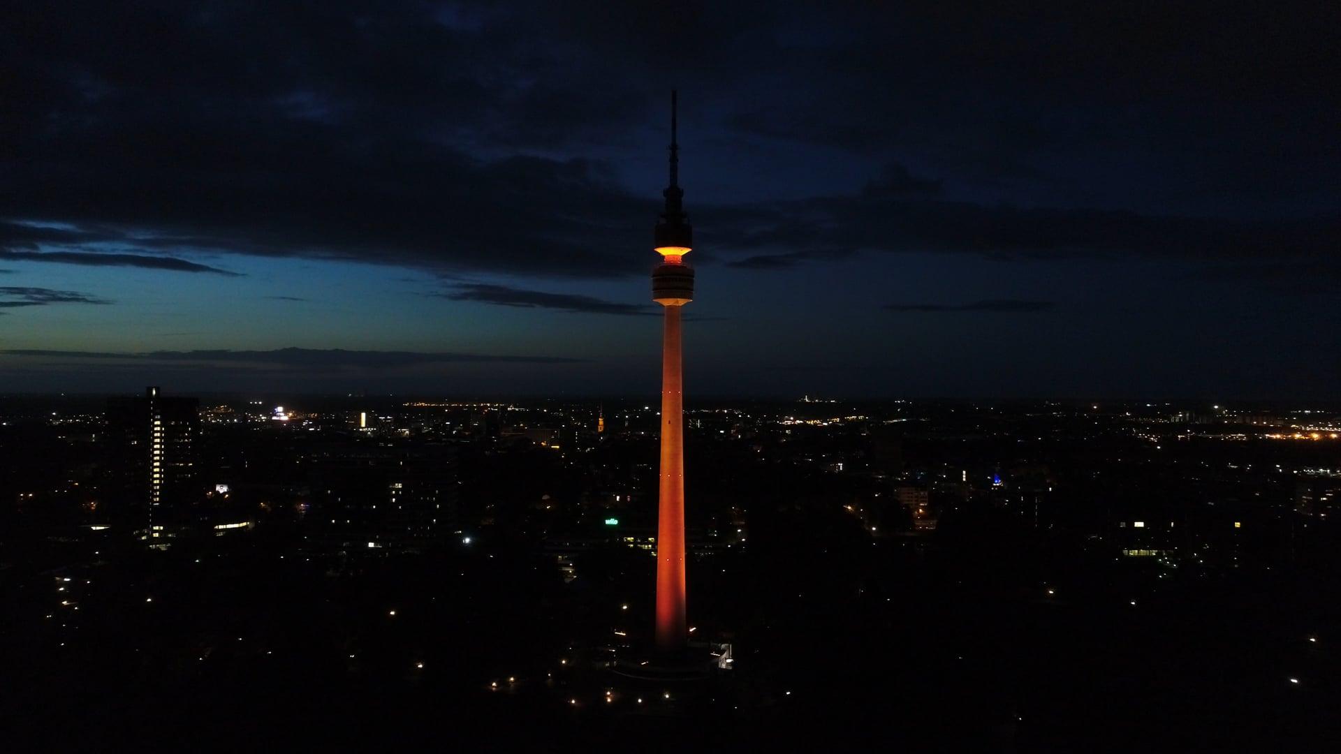 Neue Beleuchtungsanlage am Florianturm
