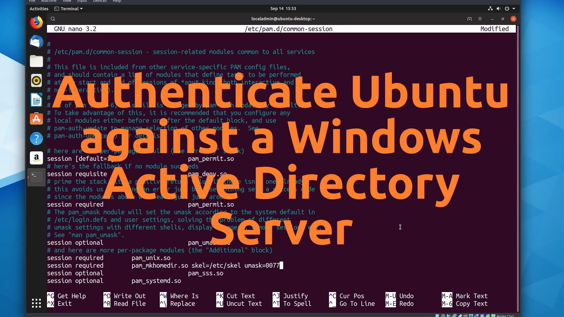Authenticate Ubuntu against Active Directory