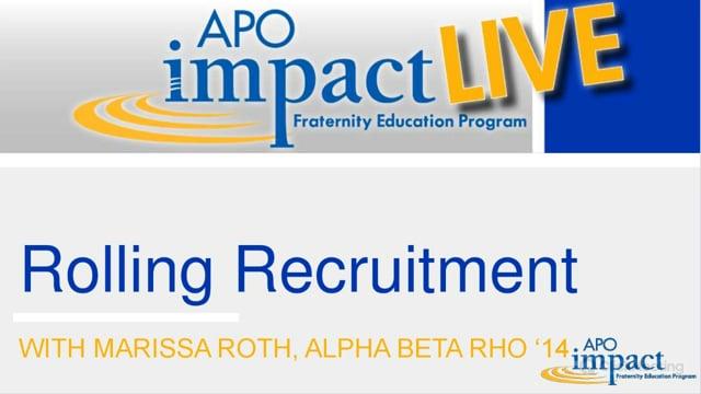 Rolling Recruitment