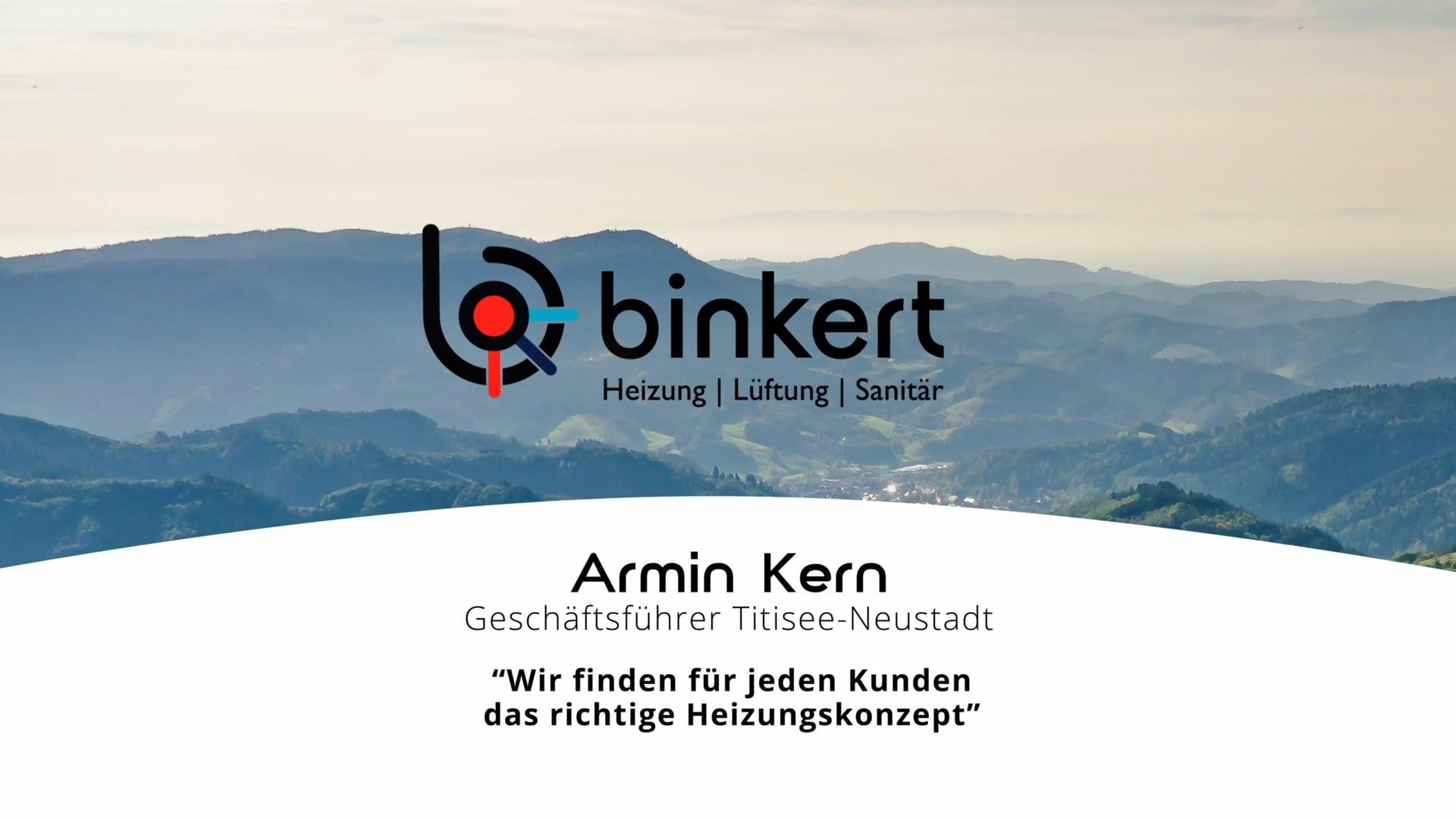 Armin Kern über die Firma Binkert Titisee-Neustadt