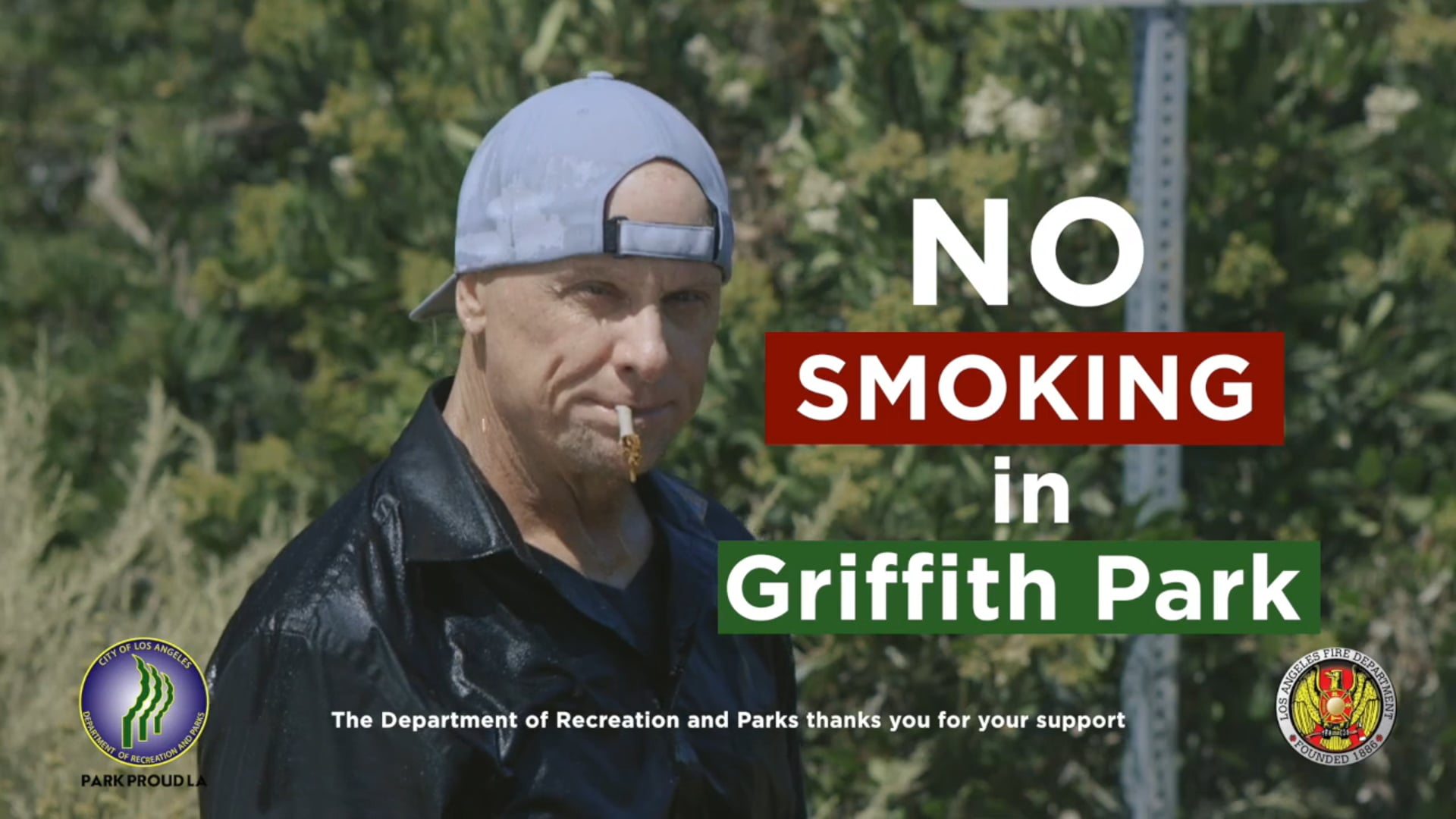 No Smoking in Griffith Park PSA