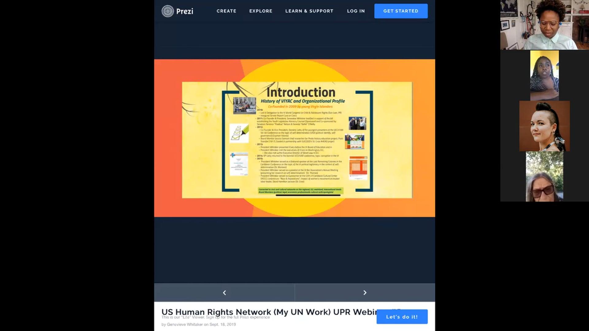 UPR Webinar #6 - September 18, 2019