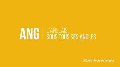 Anglais à l'UQAM : un programme solide et diversifié