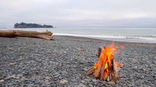 Campfire on Rialto Beach, Olympic National Park