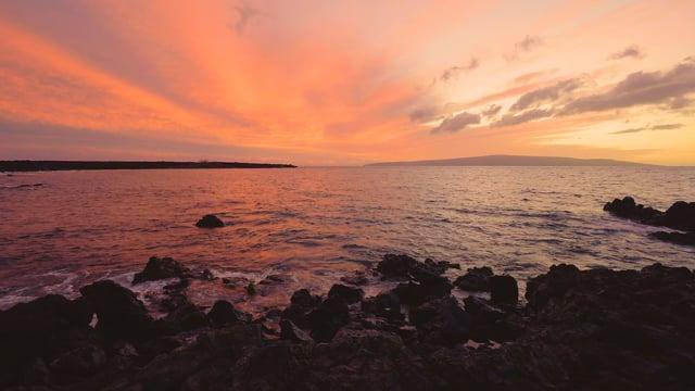 Sunset at Ahihi Bay, Maui, Hawaii