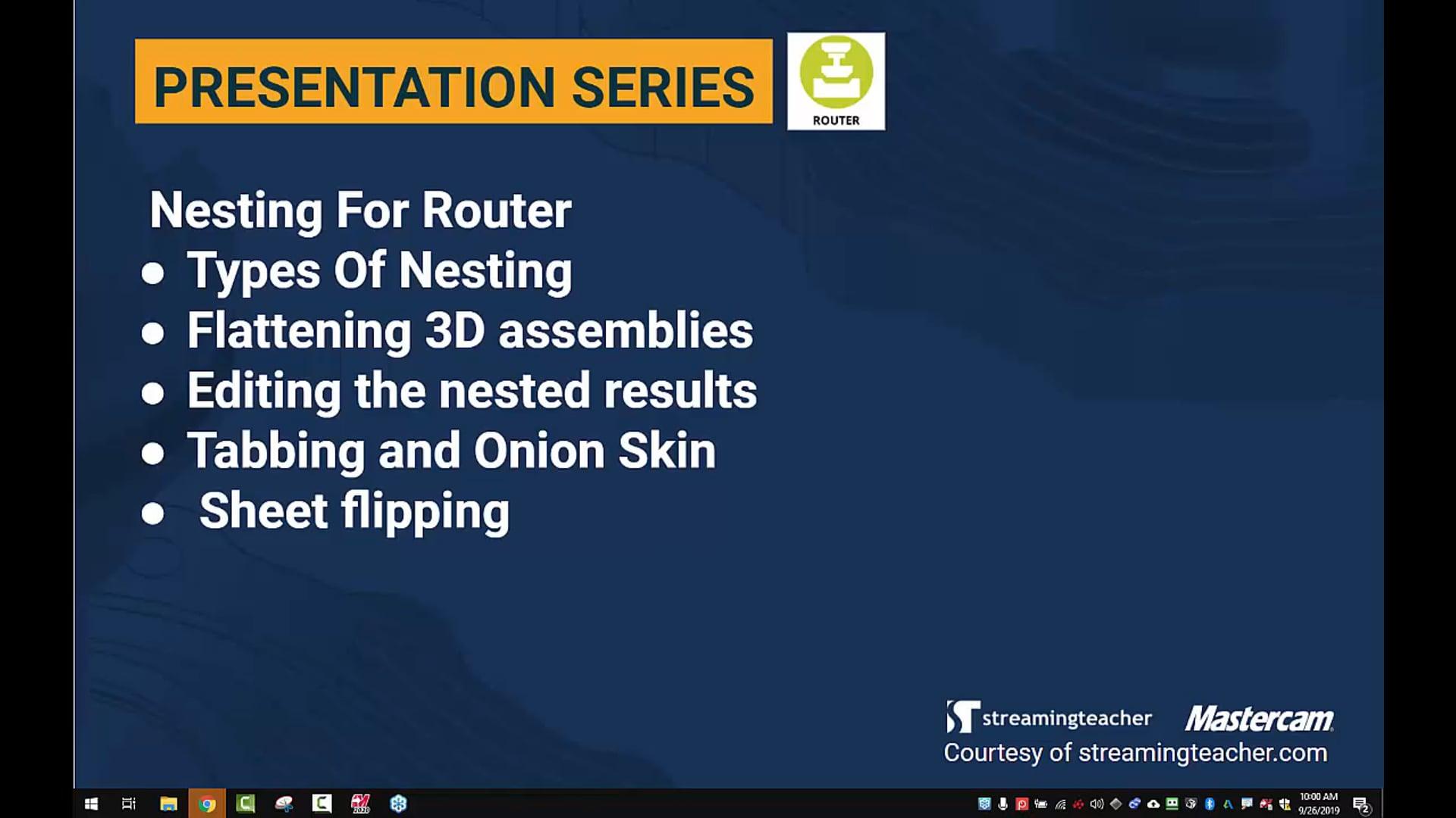 Nesting for Router