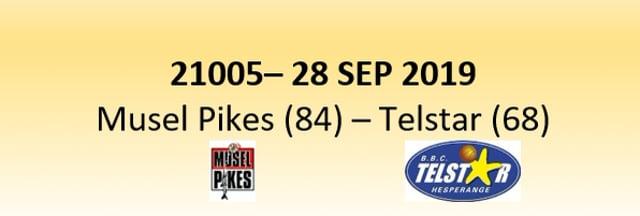 N1D 21005 Musel Pikes (84) - Telstar Hesperange (68) 28/09/2019