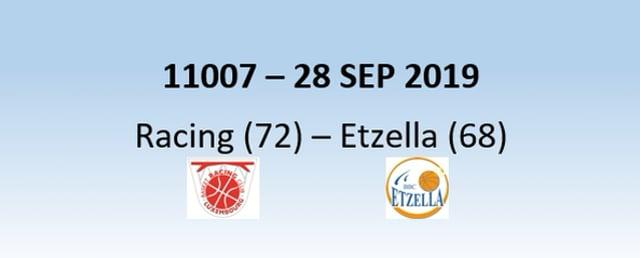 N1H 11007 Racing Luxembourg (72) - Etzella Ettelbruck (68) 28/09/2019