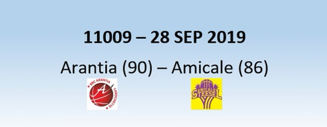 N1H 11009 Arantia Larochette (90) – Amicale Steinsel (86) 28/09/2019