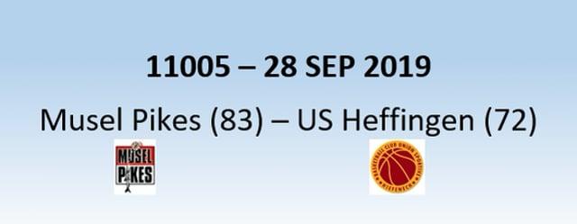 N1H 11005 Musel Pikes (83) - US Heffingen (72) 28/09/2019