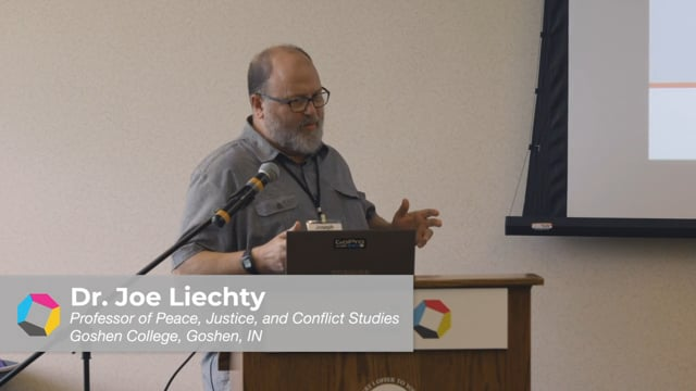 Workshop: Lessons from Northern Ireland - Dr. Joe Liechty