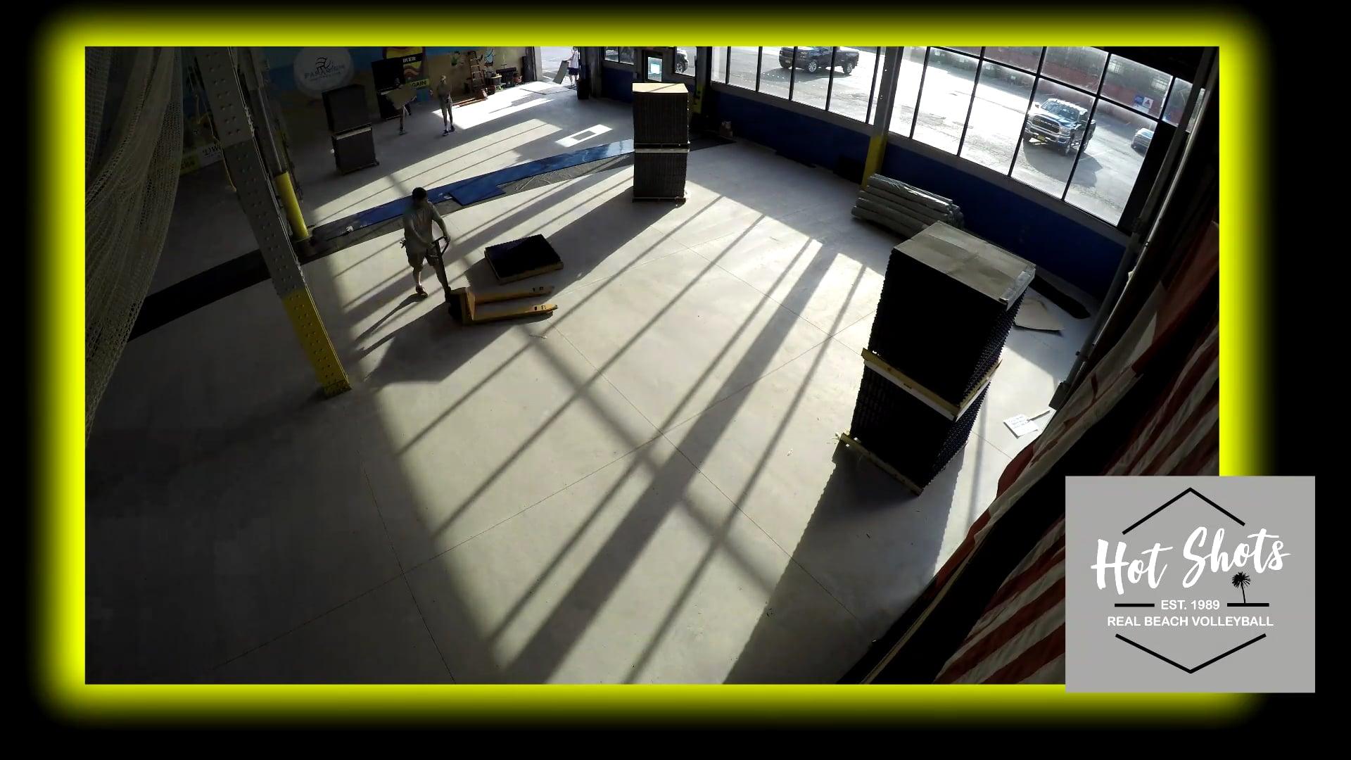 Hot Shots New Hardcourt Floor Install