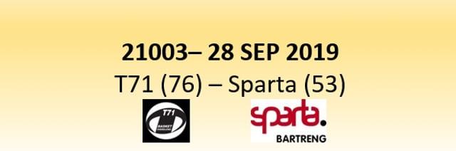N1D 21003 T71 Dudelange (76) - Sparta Bertrange (53) 28/09/2019
