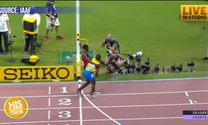 Runner on Verge of Collapse Gets Support From Opponent