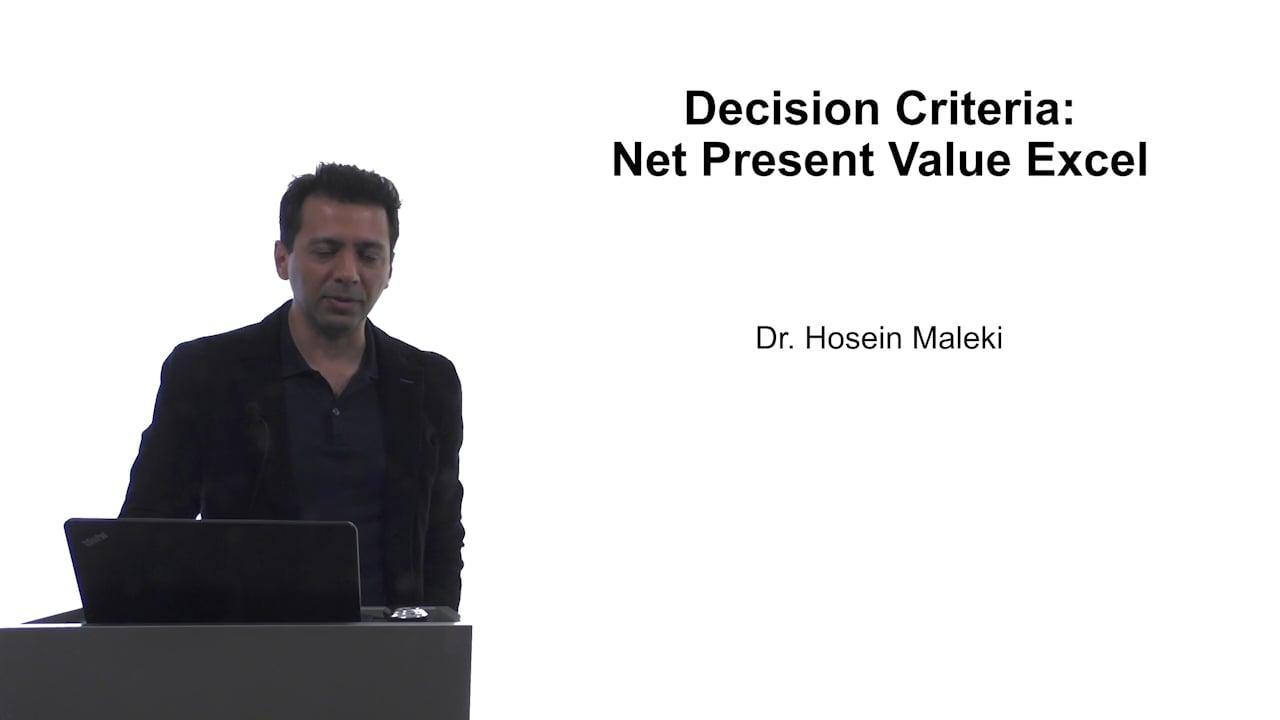 61608Decision Criteria: NPV Excel