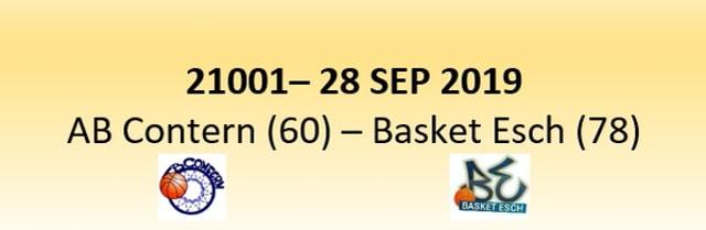 N1D 21001 AB Contern (60) - Basket Esch (78) 28/09/2019