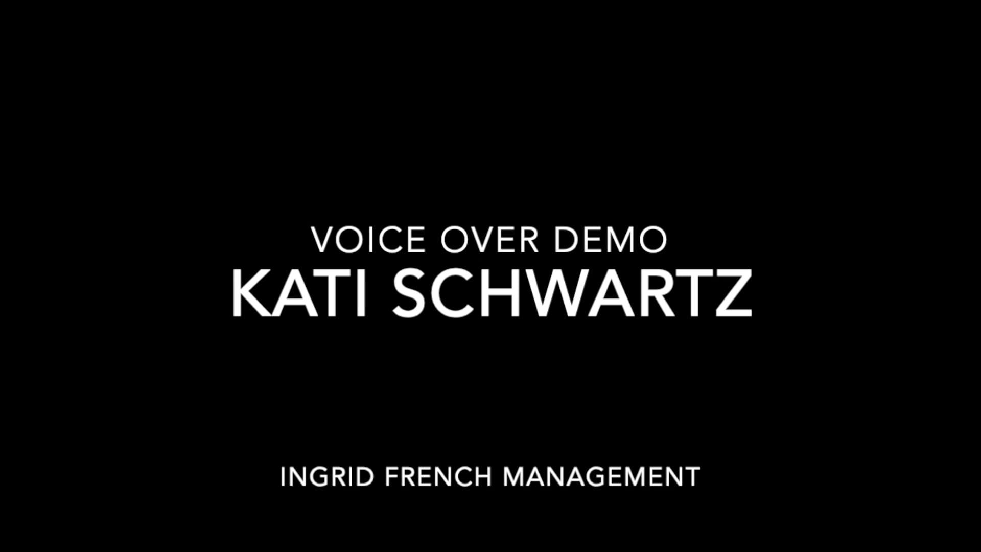Kati Schwartz VO Demo