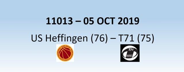 N1H 11013 US Heffingen (76) - T 71 Dudelange (75) 05/10/2019